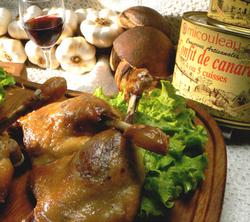 duck confit at paris 14 restaurant