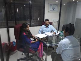 Saket, Rekha interviewing @ Zeal Campus.