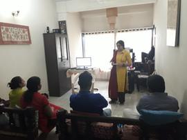 Radhieka conducting Communication Workshop in progress