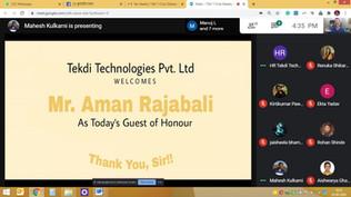 Guest of Honour @ Tekdi Technologies