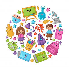 conjunto-utiles-escolares-dibujos-animad