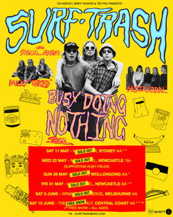 Busy Doing Nothing - Tour Poster