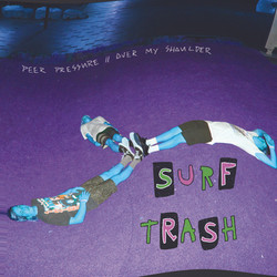 """Surf Trash - 7"""" Record Cover"""