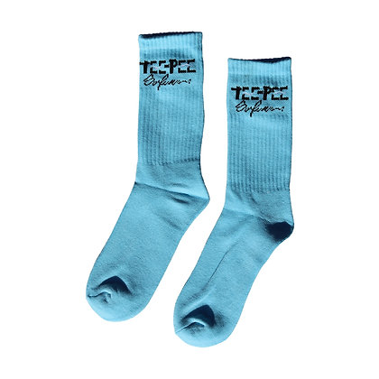 Message Sock - Sky Blue