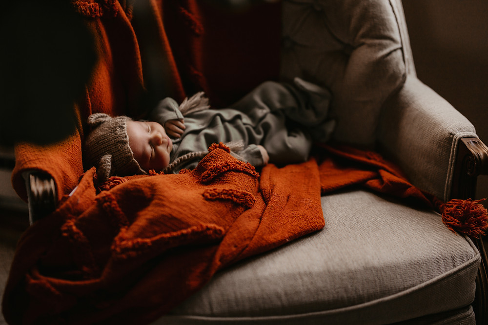 Fargo lifestyle photography sleeping baby