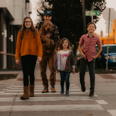 family photo walking on fargo street wyldfox