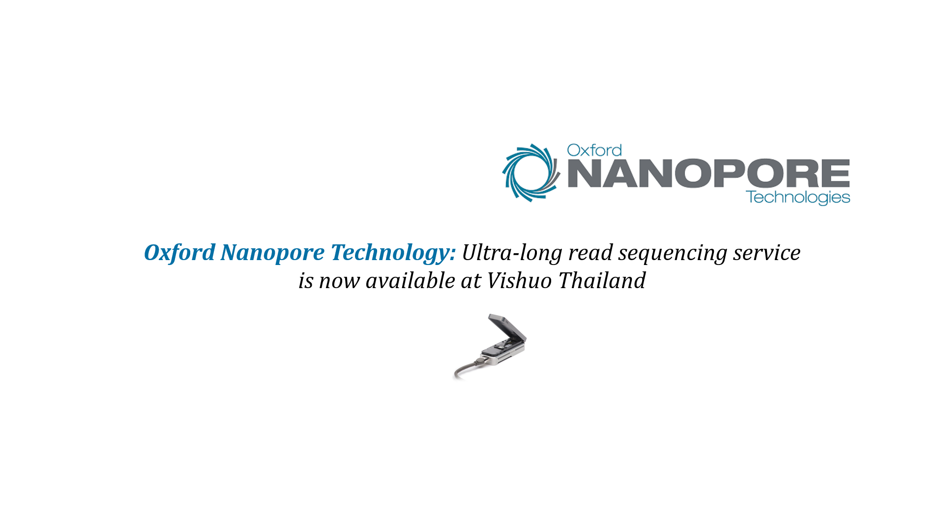 Oxford Nanopore Sequencing Services