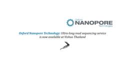 Oxford Nanopore Sequencing Services