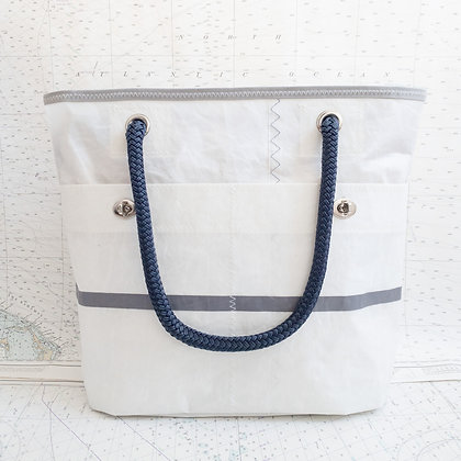 Small Recycled Sail Tote with Gray