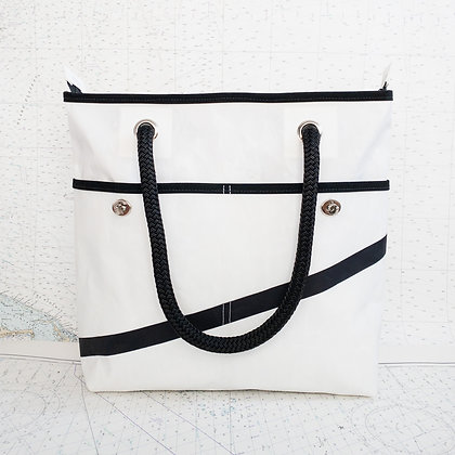 Medium Recycled Sail Tote with Black