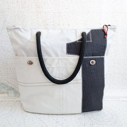 Recycled Sail Tote with #1
