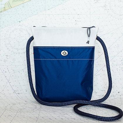 Recycled Sail Crossbody Purse with Navy Pocket