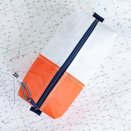 Medium Recycled Sail Dopp Kit - with orange