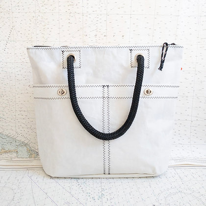 Recycled Sail Tote with Black Contrast