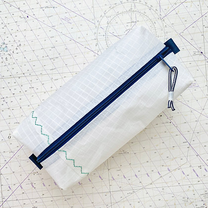 Large Recycled Sail Dopp Kit - with Navy Zip
