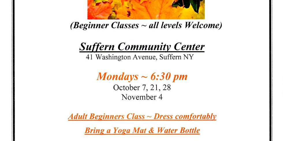 Village of Suffern Fall Yoga Series