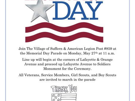 Village of Suffern Memorial Day Parade