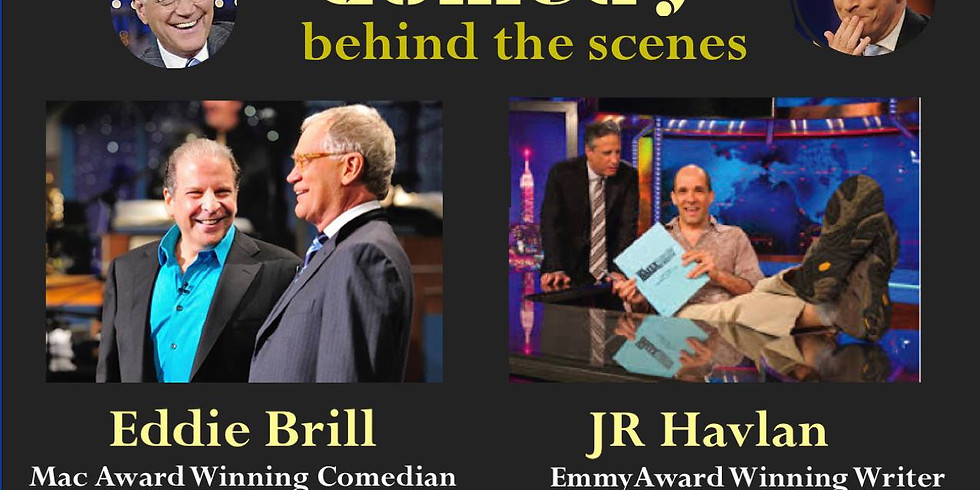 Join Eddie Brill (Letterman) and JR Havlan (Jon Stewart)  coming to Rhino Comedy to tell their jokes and stories from de