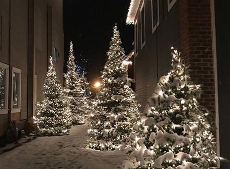 Holiday Spirit through the corridor into Sloatsburg!