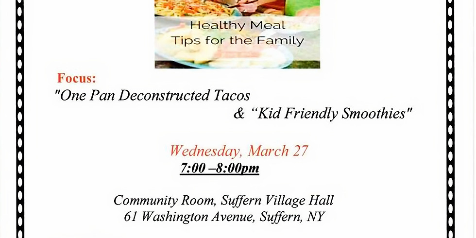 Nutrition Workshop for the Busy Family