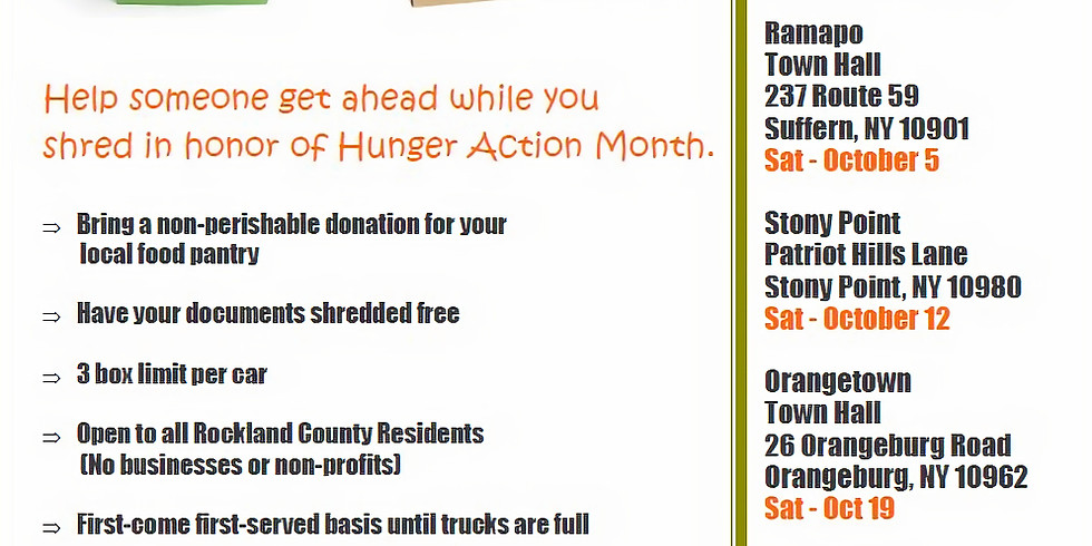 Free Paper Shredding/ Food Drive Events