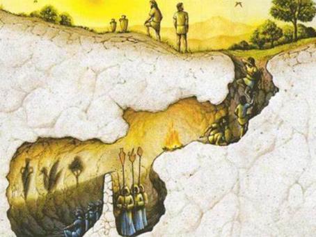 Allégorie de la caverne de Platon 1ère approche - 2 groupes