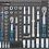 Thumbnail: BGS 4140 Werkstattwagen | 7 Schubladen | extra geringe Bauhöhe | mit 209 Werkzeu