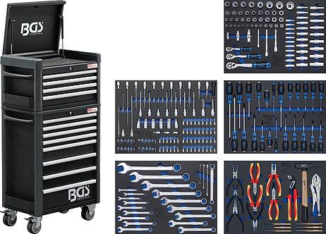 BGS 4088 Werkstattwagen Profi Standard Maxi | 12 Schubladen | mit 263 Werkzeugen