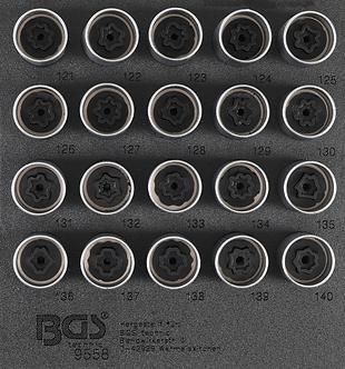 BGS 9558 Werkstattwageneinlage 1/6: Felgenschloss-Werkzeug-Satz für Opel (Typ C)