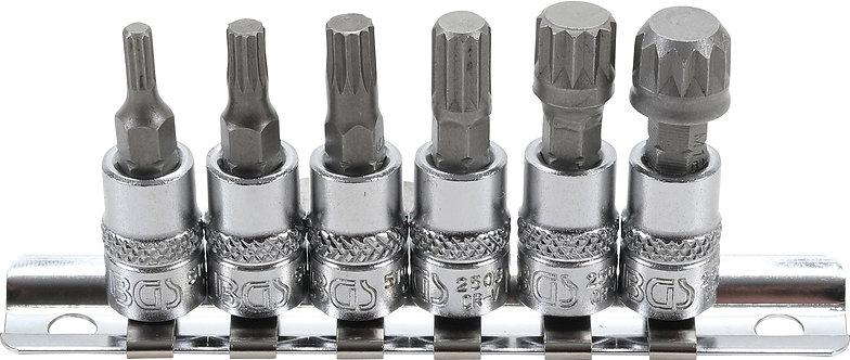 """BGS 2162 Bit-Einsatz-Satz   Innenvierkant 6,3mm (1/4"""")   Innenvielzahn   M4-M12"""