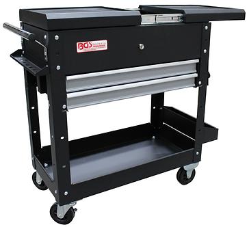 BGS 4105 Werkstattwagen | 2 Schubladen | Horizontal-Doppelauszug | leer
