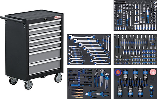BGS 4209 Werkstattwagen | 7 Schubladen | mit 354 Werkzeugen