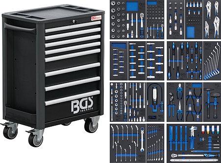 BGS 4114 Werkstattwagen Profi Exclusive | 8 Schubladen | mit 259 Werkzeugen