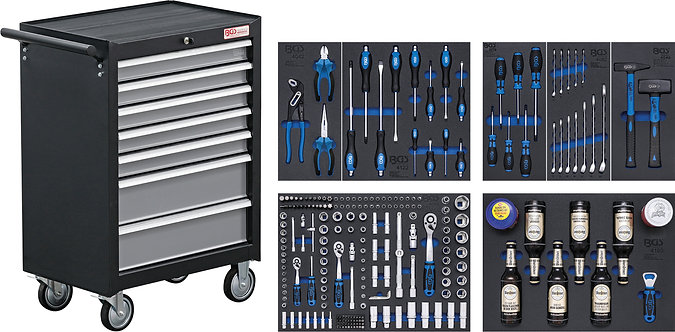 BGS 4069 Werkstattwagen | 7 Schubladen | mit 227 Werkzeugen