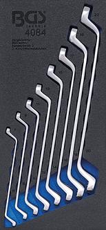 BGS 4084 Werkstattwageneinlage 1/3: Doppel-Ringschlüssel-Satz | tief gekröpft