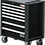 Thumbnail: BGS 4102 Werkstattwagen | 7 Schubladen | extra geringe Bauhöhe | leer