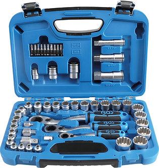 BGS 2181 Durchsteck-Steckschlüssel-Satz | Gear Lock | SW 4,5 - 25 mm | 52-tlg.