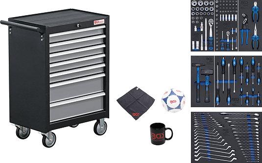 BGS 4080 Werkstattwagen | 7 Schubladen | mit 129 Werkzeugen