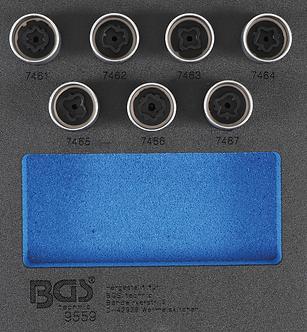 BGS 9559 Werkstattwageneinlage 1/6: Felgenschloss-Werkzeug-Satz für Opel (Typ D)