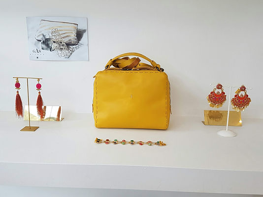 Little Yellow hand bag from Italy