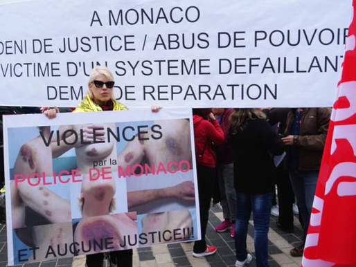 Demonstrations against Prince Albert of Monaco's brutal regime