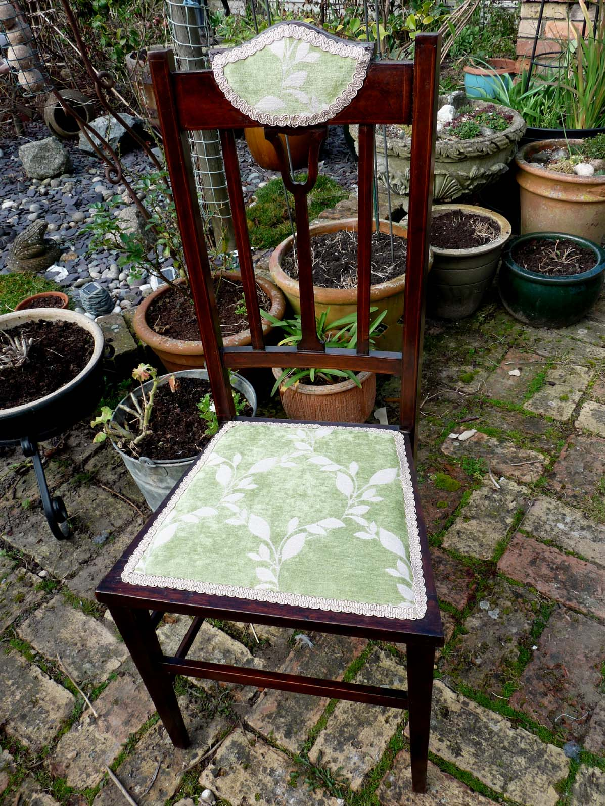 Edwardian chair re upholstered