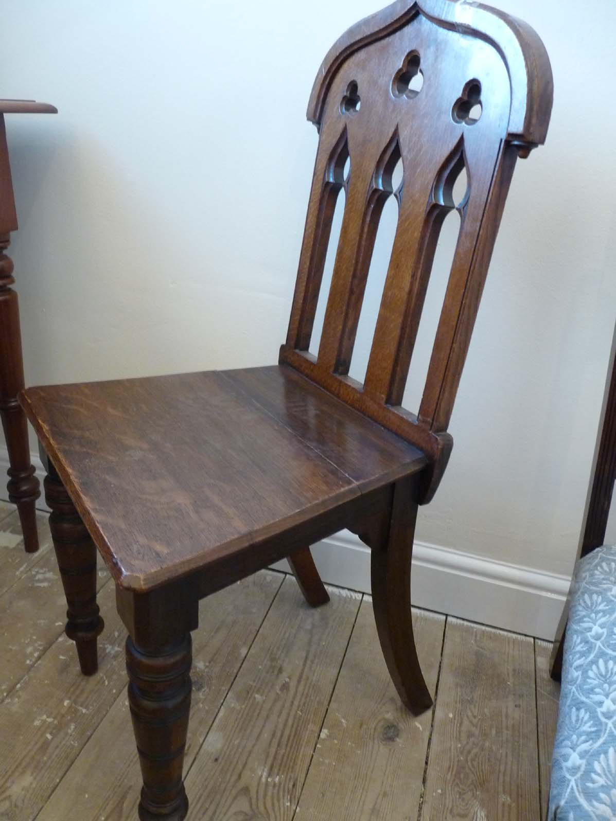 Antiques in Kent Gothic hall chair