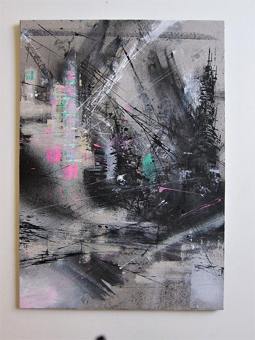 Francesco Barbieri|Autunno (Big Concrete Surface), 2018, tecnica mista, 65x45 cm