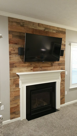Rough Cut accent Wall