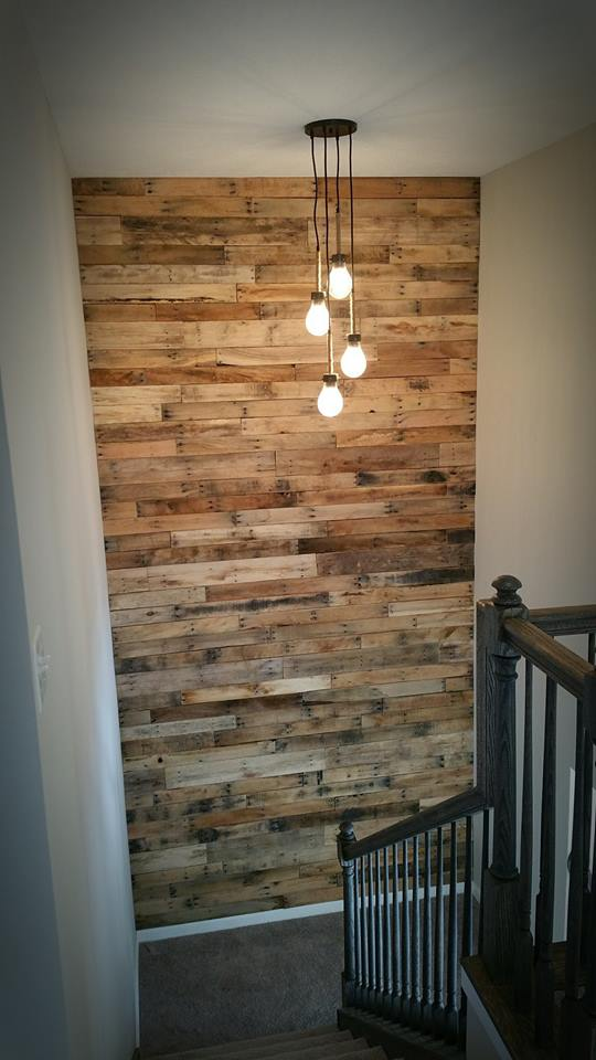Rustic Pallet Staircase