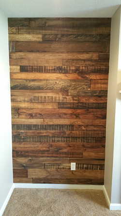 Rough Cut Stained accent wall