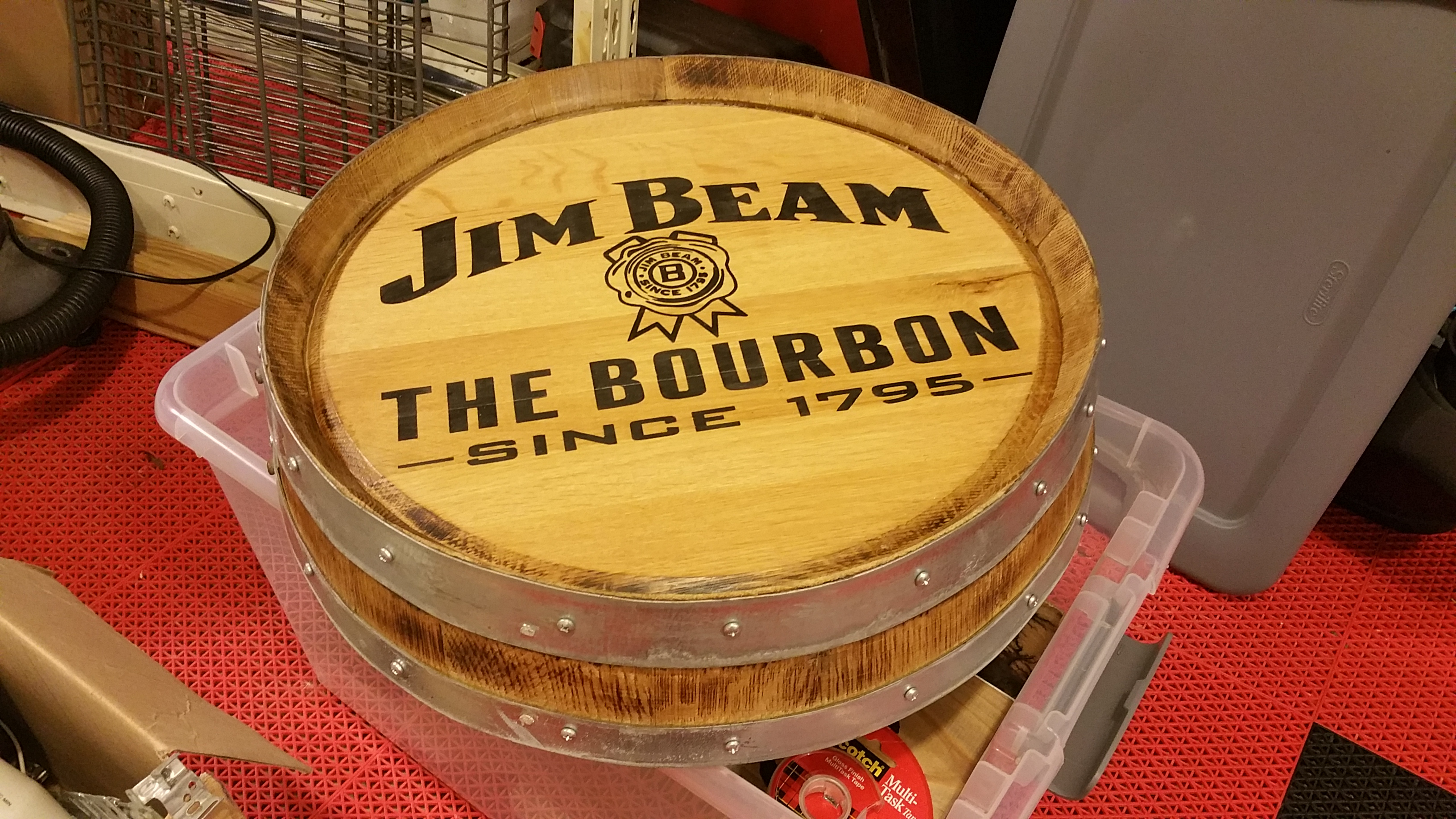 Jim Beam Barrel Head
