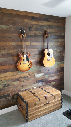 Barnwood reclaimed accent wall