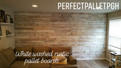 Rustic Pallet Wall Whitewashed